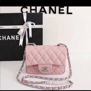 Chanel pink shoulder bag